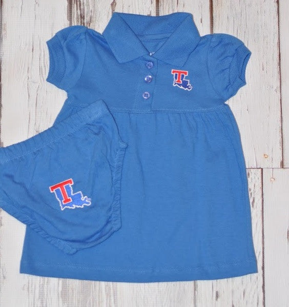 Creative Knitwear Game Day Dress with Bloomer- LA Tech