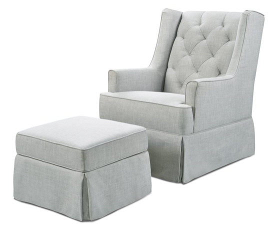 MDB Sadie Glider with Storage Ottoman