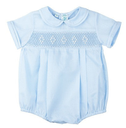 Feltman Brothers Boy's Smocked Romper in Blue