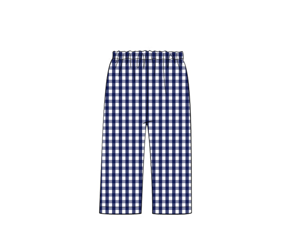 The Classic Magnolia Navy Check Pant