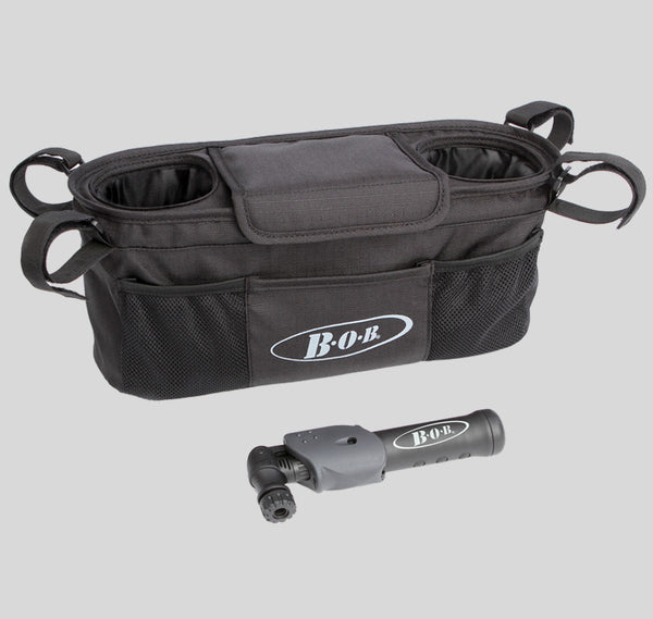 Bob Handlebar Console with Tire Pump- Single