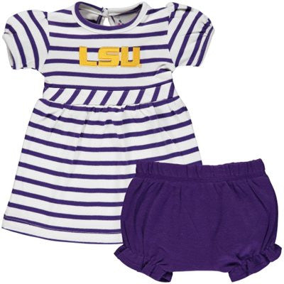 Two Feet Ahead Stripe Dress LSU