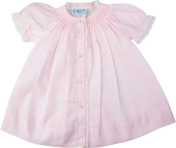 Feltman Brothers Girl's Smoked Yoke Dress with Pink