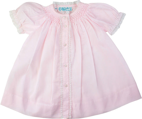 Feltman Brothers Girl's Smocked Yoke Dress with Pink