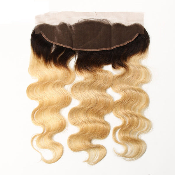Body Wave 13x4 Lace Base Ombre Frontal Closure (1B/27) - Low price cheap hair extensions