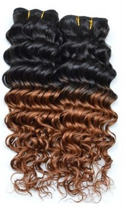 Deep Wave Ombre Clip In Extensions (1B/30)