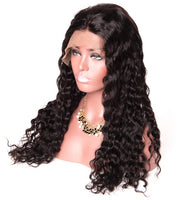 Water Wave Human Hair Wig (Natural 1B) - Low price cheap hair extensions