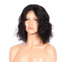 "Natural Wave #1B Middle Part Wig (10"" - 16"") - Low price cheap hair extensions"