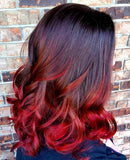 Body Wave Ombre Human Hair (Three Bundles) (1B/Red) - Low price cheap hair extensions