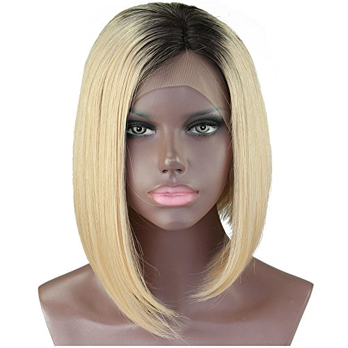 "Straight 1B/613 Ombre Human Hair Wig (10"" - 16"")"