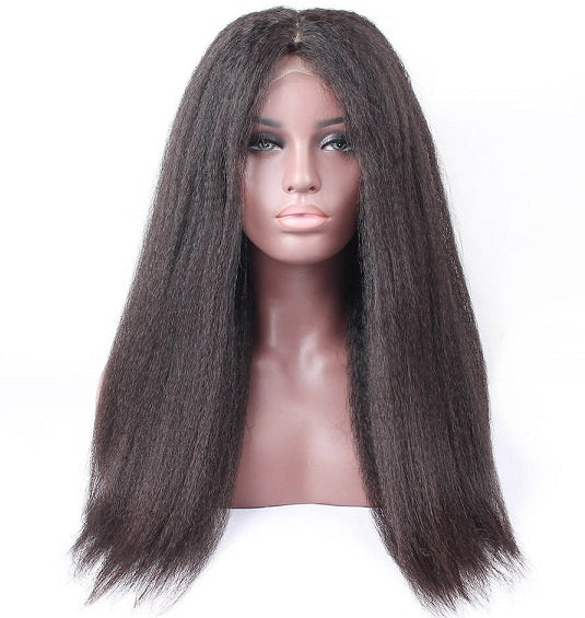 "Afro Kinky Straight Human Hair Wig #2 (26"") - Low price cheap hair extensions"