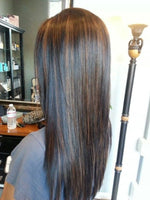 Straight Piano Clip In Extensions (One Bundle) (1B/30) - Best prices on human hair extensions