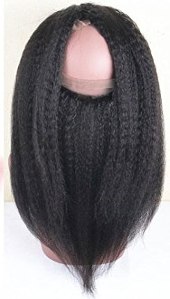 Afro Kinky Straight 360 Lace Base Frontal Closure (Natural 1B)