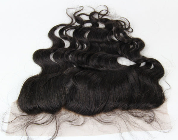 Body Wave 13X4 Lace Base Frontal Closure (Natural 1B)