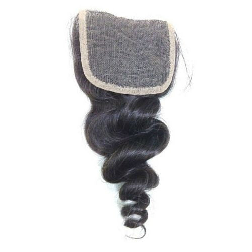 Loose Wave 4x4 Lace Base Closure (Natural 1B) - Low price cheap hair extensions