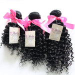 Exotic Kinky Curly Human Hair (Three Bundles) (Natural #1B) - Best prices on human hair extensions