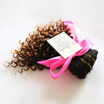 Kinky Curly Human Hair (One Bundle) (1B/30 Ombre) - Low price cheap hair extensions