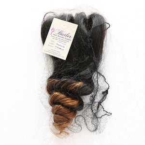 Loose Wave 4x4 Lace Base Ombre Closure (1B/30)