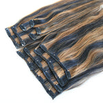 Sensual Silky Straight Two Toned Piano Clip In Extension #1B/30 (One Bundle) (20 clips) - Butler Hair Bundle Supply Reviews