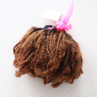 Natural Afro Kinky Mongolian Curly Clip In Extensions #1B/30 Ombre (One Bundle) (20 Clips) - Butler Hair Bundle Supply Reviews
