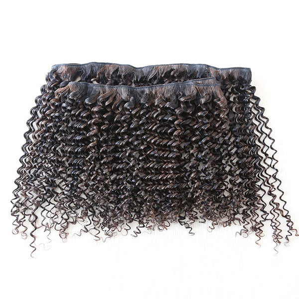Kinky Curly Piano Clip In Extensions (1B/2) - Low price cheap hair extensions