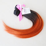 Sensual Silky Straight Weft Human Hair Two Toned Ombre (One Bundle) (#1B/350) - Butler Hair Bundle Supply - Home for the best deals on 100% human hair extensions