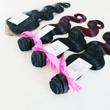 Body Wave Ombre Human Hair (One Bundle) (1B/99J) - Low price cheap hair extensions