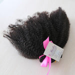 Afro Kinky Curly Human Hair (One Bundle) (Natural 1B) - Low price cheap hair extensions