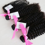 Kinky Curly Three Bundles + Lace 4x4 Closure (Natural 1B) - Low price cheap hair extensions