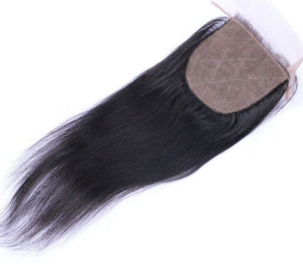 Straight 4x4 Silk Base Closure (Natural 1B) - Low price cheap hair extensions