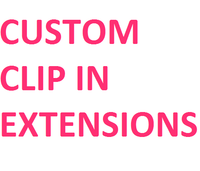 Custom Color Hair (Clip In Extensions) - Low price cheap hair extensions
