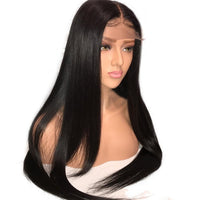 "Straight Natural 1B Human Hair Wig (18"" - 32"") - Low price cheap hair extensions"