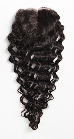 Deep Wave 4x4 Lace Base Closure (Natural 1B) - Low price cheap hair extensions