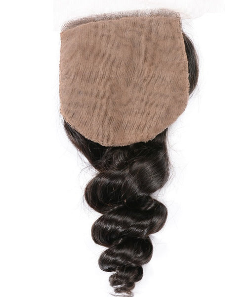 Loose Wave 4x4 Silk Base Closure (Natural 1B)