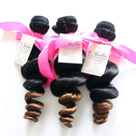 Luxurious Loose Wave Weft Human Hair Two Toned (Three Bundles) (#1B/30 Ombre) - Butler Hair Bundle Supply Reviews