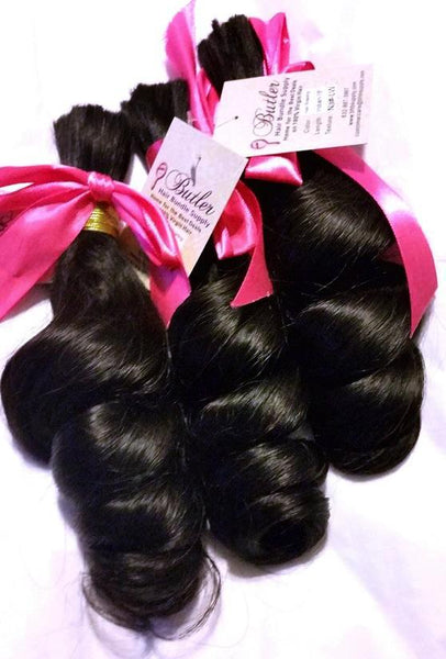 Loose Wave Braiding Human Hair (One Bundle) (Natural 1B)