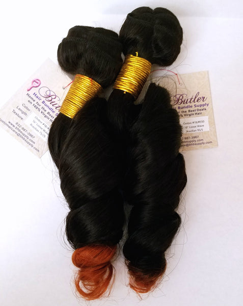 Loose Wave Ombre Human Hair (One Bundle) (1B/350)