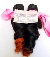 Loose Wave Ombre Human Hair (Three Bundles) (1B/350)