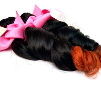 Loose Wave Ombre Human Hair (Three Bundles) (1B/350) - Low price cheap hair extensions