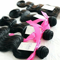 Body Wave Three Bundles + Lace 4x4 Closure (Natural 1B) - Low price cheap hair extensions