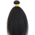 Afro Kinky Straight Human Hair (One Bundle) (Natural 1B)