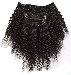 Kinky Curly Clip In Extensions (Natural 1B)