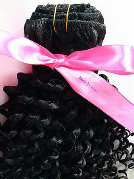 Kinky Curly Human Hair (One Bundle) (Natural 1B) - Low price cheap hair extensions