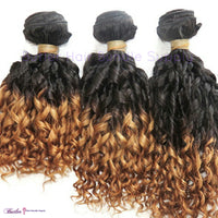 Spiral Curly Ombre Human Hair (One Bundle) (1B/30) - Low price cheap hair extensions