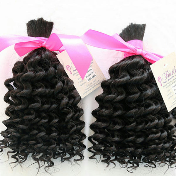 Exotic Kinky Curly Bulk Braiding Human Hair (One Bundle) (Natural #1B) - Butler Hair Bundle Supply Reviews