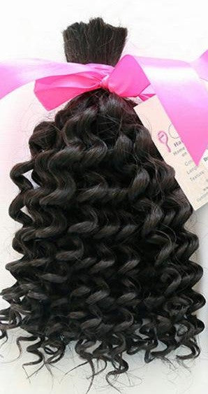 Kinky Curly Braiding Human Hair (One Bundle) (Natural 1B)