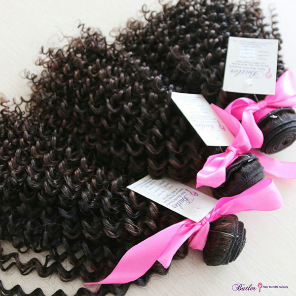 Kinky Curly Piano Human Hair (Three Bundles) (1B/2) - Low price cheap hair extensions
