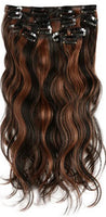 Body Wave Piano Clip In Extensions (1B/30) - Low price cheap hair extensions