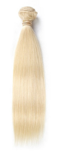 Straight Bleached Blonde Human Hair (One Bundle) (#60)