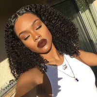 Kinky Curly 4x4 Silk Base Closure (Natural 1B) - Low price cheap hair extensions